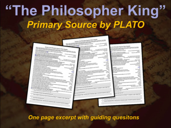 The Philosopher King - primary source excerpt by Plato