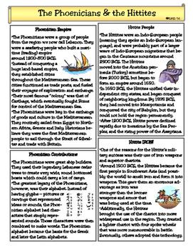 The Phoenicians & Hittites