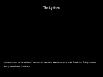 The Phoenicians and Lydians