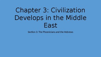 The Phoenicians and the Hebrews Powerpoint