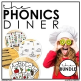 The Phonics Diner: Kindergarten Phonics Curriculum (Whole & Small Group) Bundle