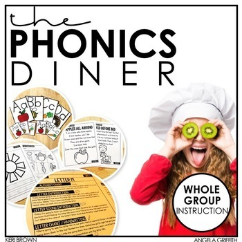 The Phonics Diner Kindergarten Whole Group Lesson Plans And Powerpoints
