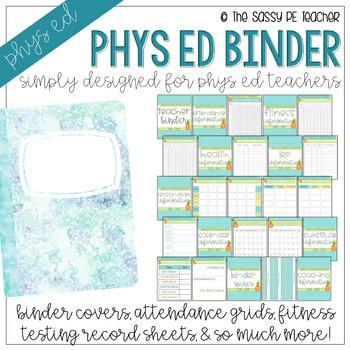 The Physical Education Teacher Binder | Pineapple Edition