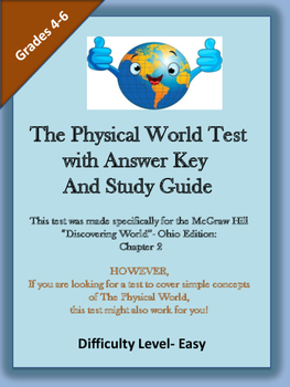 The Physical World Test with Answer Key and  Study Guide