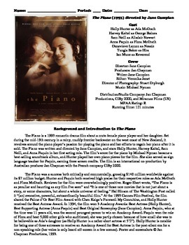 The Piano Film (1993) Study Guide Movie Packet