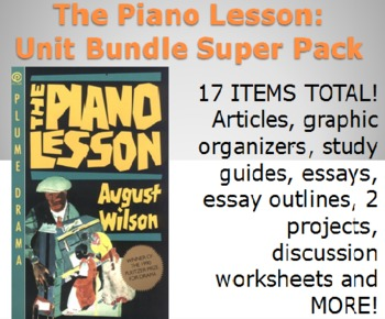 The Piano Lesson Unit Materials Super Pack - 17 activities, readings, etc