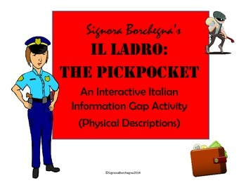 The Pickpocket: An Italian Information Gap Activity (Physical Descriptions)