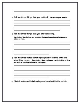 Text Features:  The Picture Walk: Non Fiction Close Reading