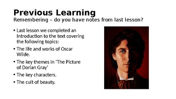The Picture of Dorian Gray (1) The Preface and Chapter 1