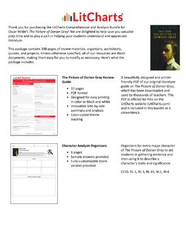 The Picture of Dorian Gray – Comprehension and Analysis Bundle