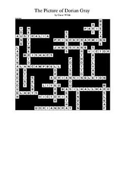 The Picture of Dorian Gray - Crossword Puzzle