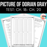 The Picture of Dorian Gray Multiple Choice Chapters 18-20