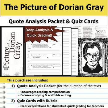 The Picture of Dorian Gray - Quote Analysis & Reading Quizzes