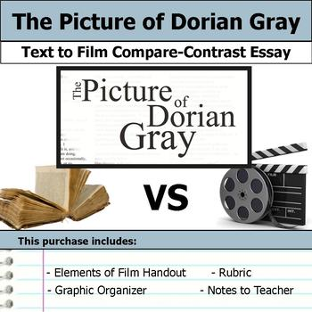 the picture of dorian gray teaching resources teachers pay teachers  the picture of dorian gray text to film essay bundle