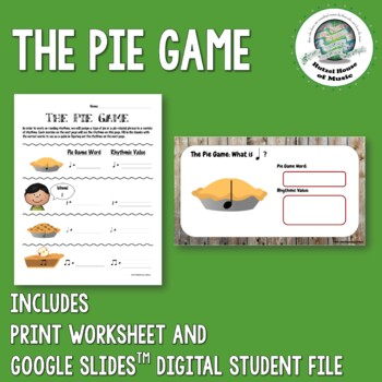 The Pie Game: Rhythm Reading Made Fun