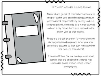 Guided Reading Journal Print and Go Flip-Ups