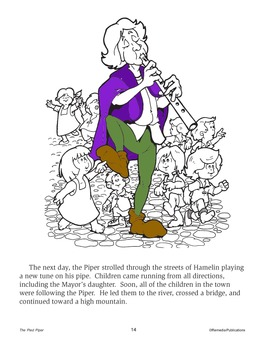 The Pied Piper: Read & Color - Enhanced