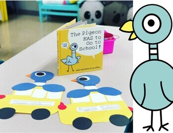 The Pigeon Has To Go To School Book Companion and Craft
