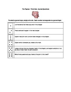 The Pigman - Journal Topics Think Dots
