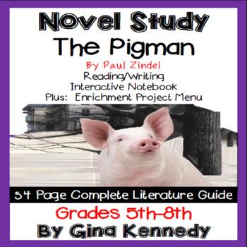 The Pigman Novel Study + Enrichment Project Menu