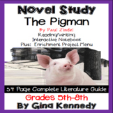 The Pigman Novel Study + Enrichment Project Menu