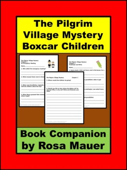 The Pilgrim Village Mystery Boxcar Children Book Unit