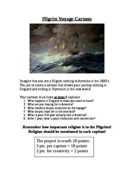 The Pilgrim's Voyage Cartoon Strip