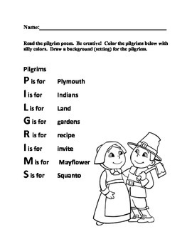 """""""The Pilgrims' First Thanksgiving"""""""