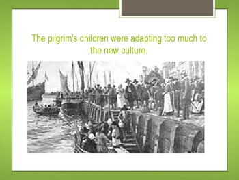 The Pilgrim's Voyage to the New World & their first Thanksgiving