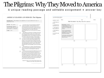 The Pilgrims: Why They Moved to America