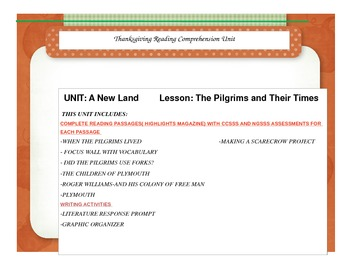 The Pilgrims and Their Times Unit