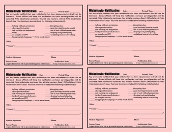 The Pink Slip (An Amazing Discipline Management Tool) PDF Version (non-editable)