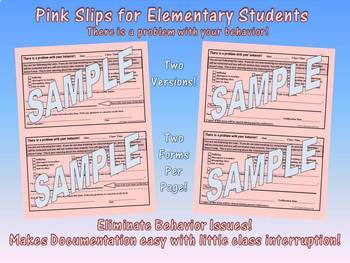 The Pink Slip *Elementary Version! (An Amazing Discipline Management Tool)