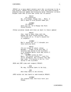 The Pint Sized Pirate stage play script for kids