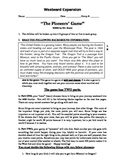 """Fifth Grade (The Westward Movement) """"The Pioneers' Game"""""""