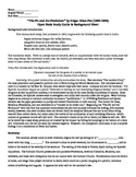 The Pit and the Pendulum E A Poe Background & Fill-in Worksheet