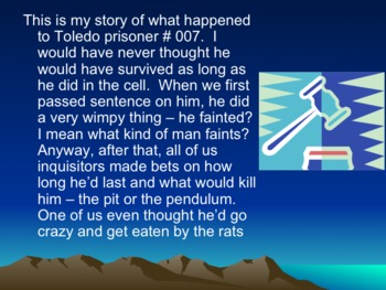 The Pit and the Pendulum Guided Reading Summary and Inquisitor's Story