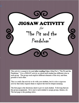"""""""The Pit and the Pendulum"""" Jigsaw Group Activity"""
