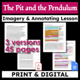 The Pit and the Pendulum - Original & 2 Abridged Texts - Imagery & Annotating