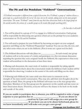 The Pit and the Pendulum Socratic Seminar
