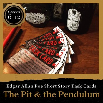 The Pit and the Pendulum Task Cards: EDITABLE