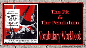 The Pit and the Pendulum: Vocabulary Workbook/Halloween Activity