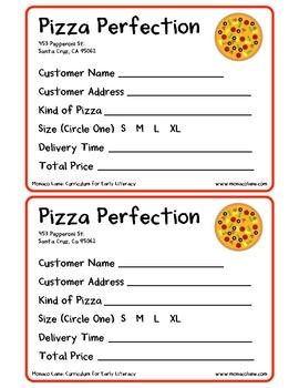 """The Pizza Box"" Homework Kit for Kindergarten (Set A #7 of 10)"