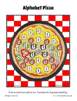 The Pizza Challenge  ~ Focus Alphabet D ~ Patterns Clothes Pin Cards & More