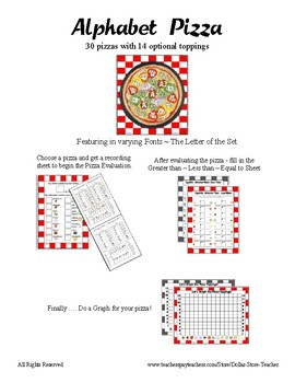 The Pizza Challenge by the Letter ~ Focus Alphabet A ~ Colors Patterns Numbers +