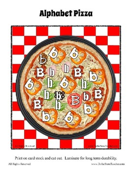 The Pizza Challenge by the Letter ~ Focus Alphabet B ~ Colors Patterns Numbers +