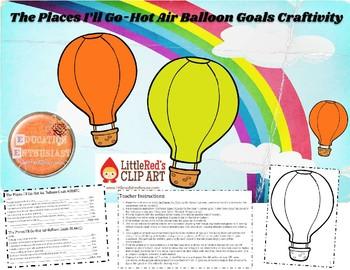 The Places I'll Go-Hot Air Balloon Goals Craftivity PDF