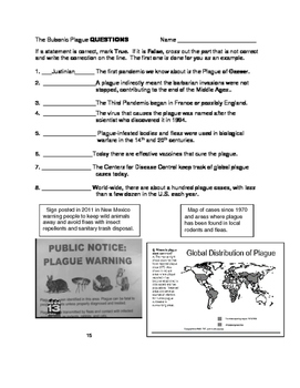 The Plague Past and Present Informational Text with Questions, Primary Sources