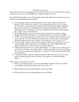 The Plague Unit Plan, Lessons, Activities (High School)