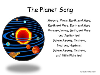 Planets Song & Worksheets | Teachers Pay Teachers